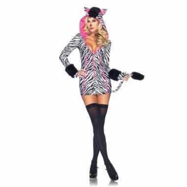 Savanna zebra kostuum voor dames