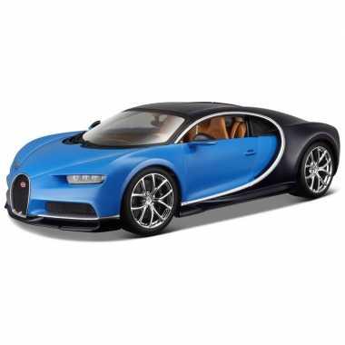 Schaalmodel bugatti chiron 1:24 blauw