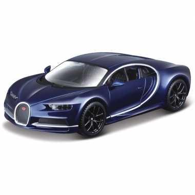 Schaalmodel bugatti chiron 1:32 blauw