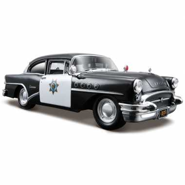 Schaalmodel buick century politie 1:24 zwart