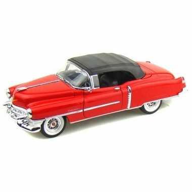 Schaalmodel cadillac eldorado 1953 gesloten cabrio rood 1:34
