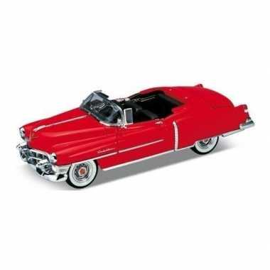 Schaalmodel cadillac eldorado 1953 open cabrio rood 1:34