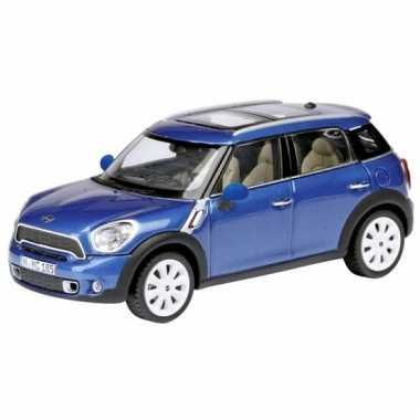 Schaalmodel mini countryman blauw 1:24