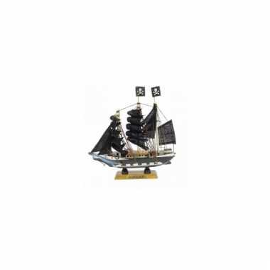 Schaalmodel piratenschip 16 cm