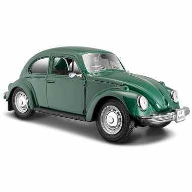 Schaalmodel volkswagen kever groen 1:24