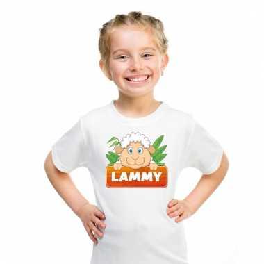 Schaap dieren t-shirt wit voor kinderen