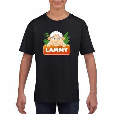 Schaap dieren t-shirt zwart voor kinderen