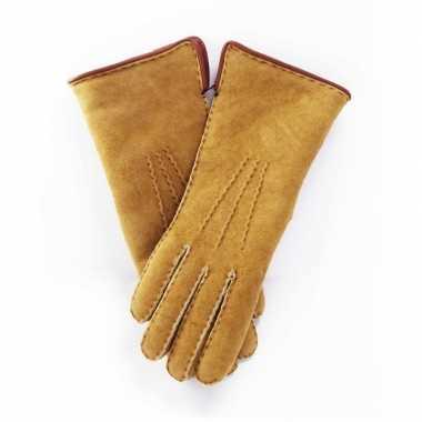 Schapenvacht handschoenen beige
