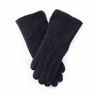 Schapenvacht handschoenen zwart