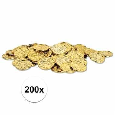 Schatkist munten goud 200 stuks