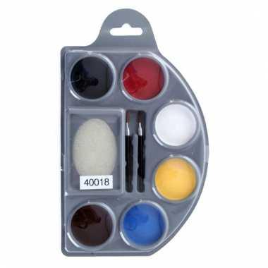 Schmink op waterbasis 6 kleuren