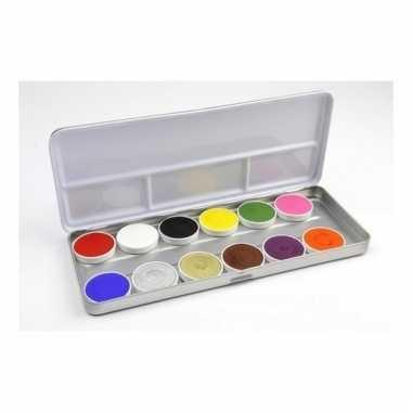 Schmink palet 12 diverse kleuren