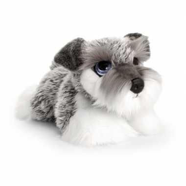 Schnauzer honden knuffeldier 37 cm