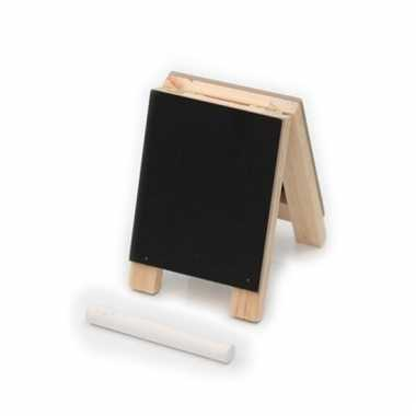 School klapbordje met krijtjes 10 cm