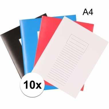 Schoolspullen 10 schriften a4 met lijntjes