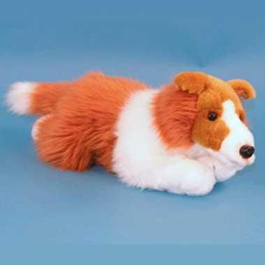 Schotse collie honden knuffel 36 cm