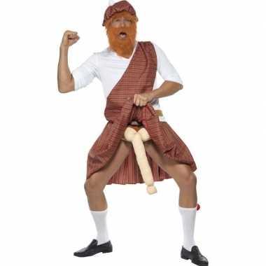 Schotse kilt met piemel kostuum for heren