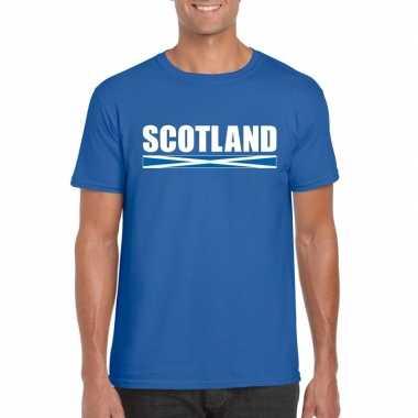 Schotse supporter t-shirt blauw voor heren