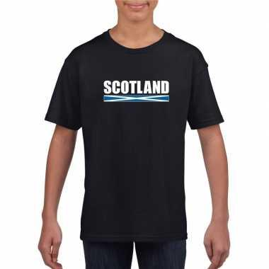 Schotse supporter t-shirt zwart voor kinderen