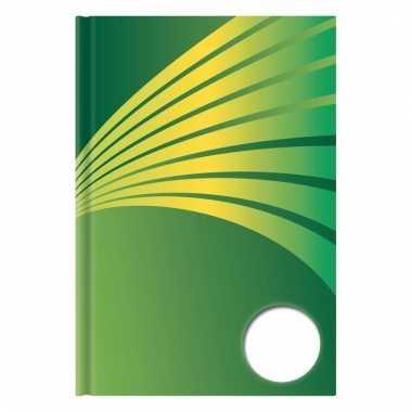 Schrift a5 formaat met groene harde kaft