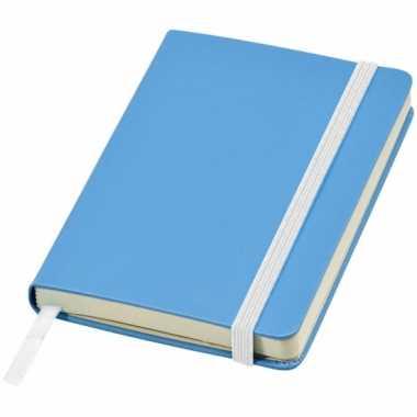 Schrift a6 formaat met blauwe harde kaft