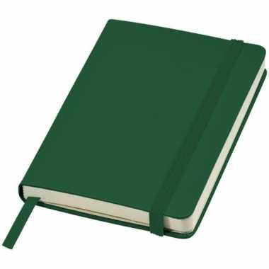 Schrift a6 formaat met groene harde kaft