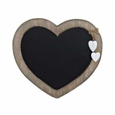 Schrijfbord hart vorm 27 cm
