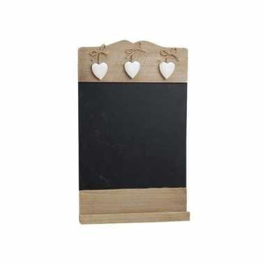 Schrijfbord met hartjes 38 cm