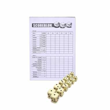 Scoreblokken yahtzee inclusief 12 dobbelstenen