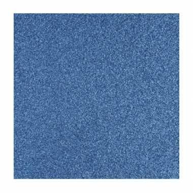 Scrapbooking papier blauw glitter