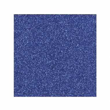 Scrapbooking papier donkerblauw glitter