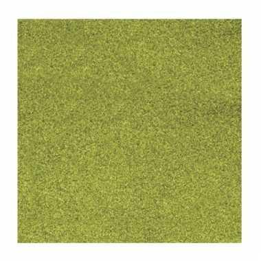 Scrapbooking papier grasgroen glitter