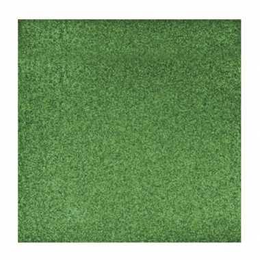 Scrapbooking papier groen glitter