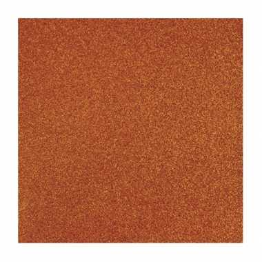 Scrapbooking papier oranje glitter
