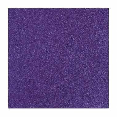 Scrapbooking papier paars glitter