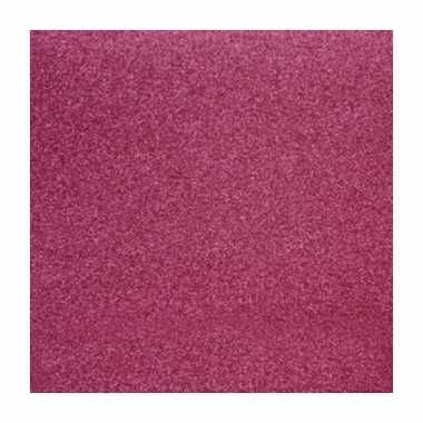Scrapbooking papier roze glitter