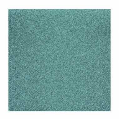 Scrapbooking papier turquoise glitter