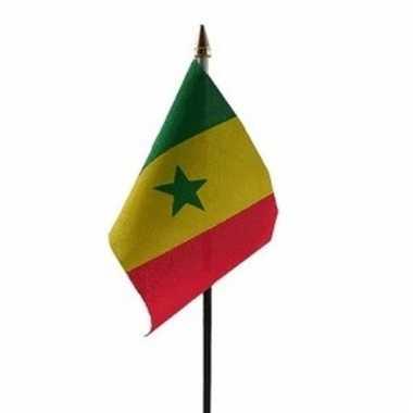 Senegal vlaggetje polyester