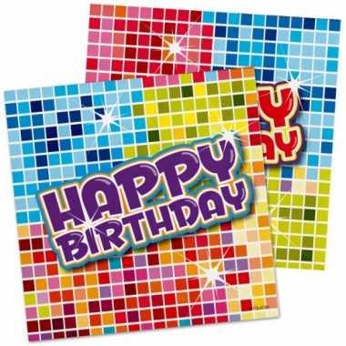 Servetjes happy birthday 16 stuks