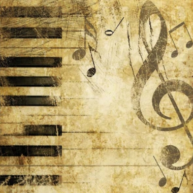 Servetjes met muzieknoten 20 stuks