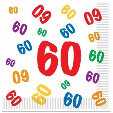Servetten 60 jaar leeftijd 16 stuks