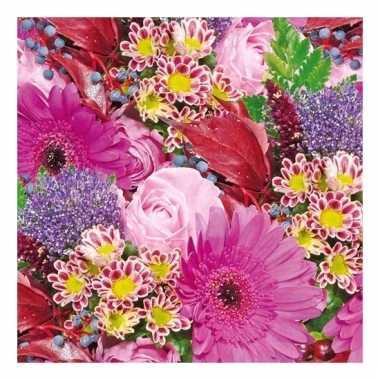 Servetten bloemen print 3-laags 20 stuks