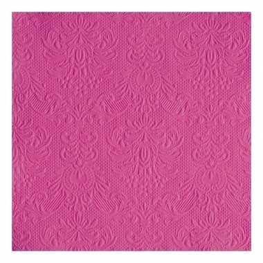 Servetten roze barok thema 3-laags 15 stuks