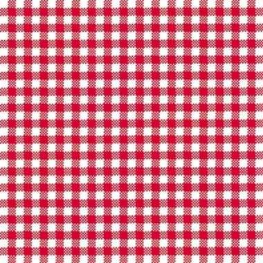 Servetten ruit rood/wit 3-laags 20 stuks