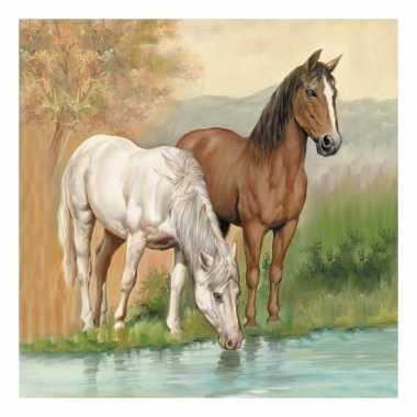 Servetten wilde paarden 3-laags 20 stuks
