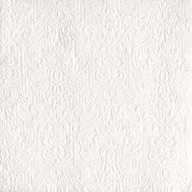 Servetten wit met decoratie 3-laags 15 stuks