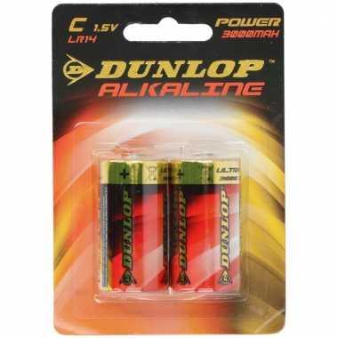 Set van 2 dunlop lr14 c batterijen