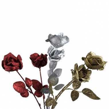 Set van 2 glitter rozen
