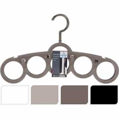 Set van 3 witte kledinghangers voor stropdassen