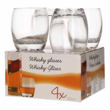 Set van 4 whiskyglazen 255 ml